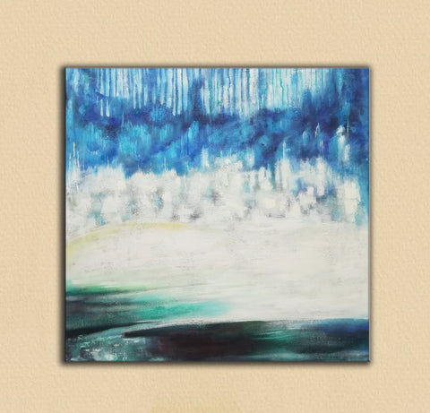 Image of Modern art gallery | Famous oil painting |  Abstract canvas painting F38-6