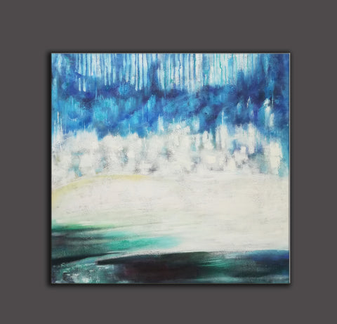 Image of Modern art gallery | Famous oil painting |  Abstract canvas painting F38-7