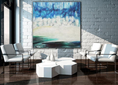 Image of Modern art gallery | Famous oil painting |  Abstract canvas painting F38-1