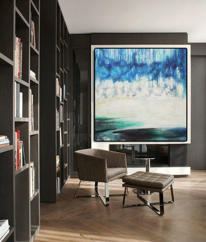 Image of Modern art gallery | Famous oil painting |  Abstract canvas painting F38-9