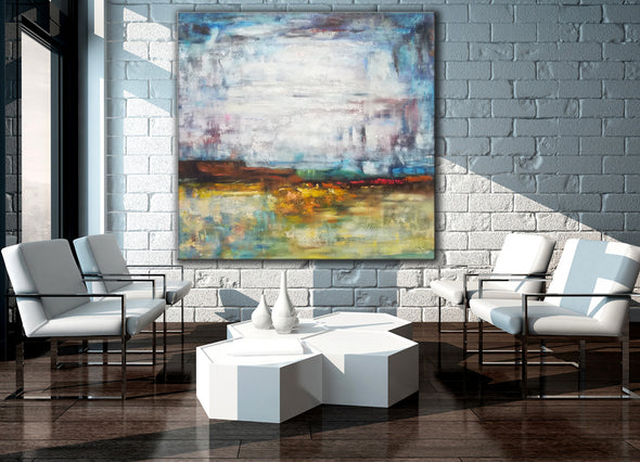 Large oil canvas art | Big art paintings F39-7