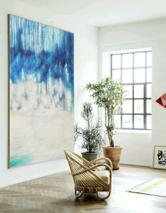 Abstract oil painting | Abstract landscape painting | Modern canvas art F40-9