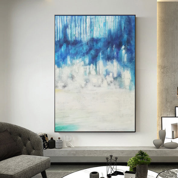 Abstract oil painting | Abstract landscape painting | Modern canvas art F40-1