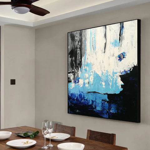 Acrylic abstract art | Contemporary canvas art | Original oil paintings F46-2