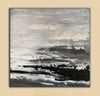 Large black and white painting | Black and white abstract paintings on canvas F47-3