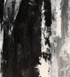 Large black and white painting | Black and white abstract paintings on canvas F47-8