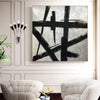 Black and white wall art | Black and white abstract painting F51-2