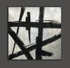 Black and white wall art | Black and white abstract painting F51-6