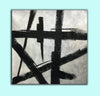 Black and white wall art | Black and white abstract painting F51-8
