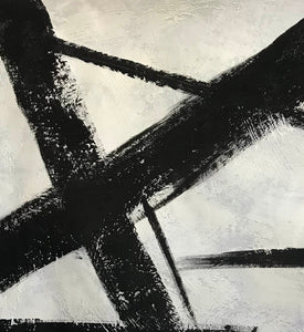 Black and white modern paintings | Black and white modern art paintings | White artwork  F56-3