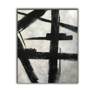 Black and white art drawings | White paint | White wall art F57-6