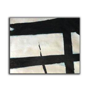 Black and white abstract art paintings | Black and white prints for living room F58-6