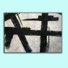 Black and white abstract art on canvas | Painting in black and white F59-9