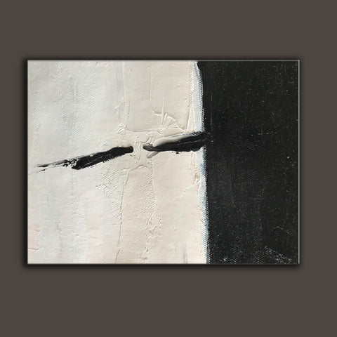 Oversized black and white canvas art | Black and white modern art F61-5