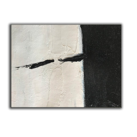 Oversized black and white canvas art | Black and white modern art F61-6
