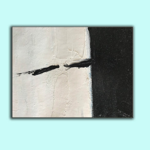 Oversized black and white canvas art | Black and white modern art F61-7