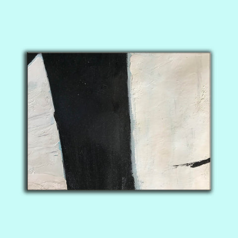 Image of Large black and white artwork | Black white art paintings | Black white abstract painting F62-5