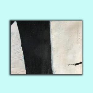 Large black and white artwork | Black white art paintings | Black white abstract painting F62-5