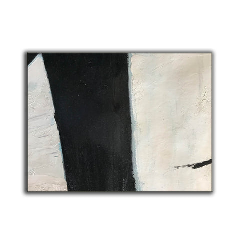 Image of Large black and white artwork | Black white art paintings | Black white abstract painting F62-6
