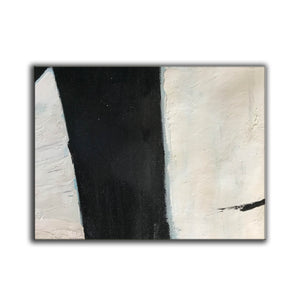 Large black and white artwork | Black white art paintings | Black white abstract painting F62-6