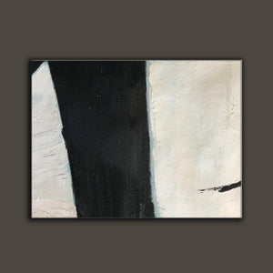 Large black and white artwork | Black white art paintings | Black white abstract painting F62-7