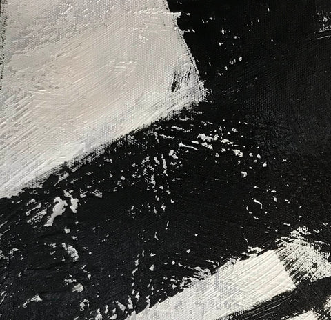 Image of Black abstract art | Black white abstract art F63-3