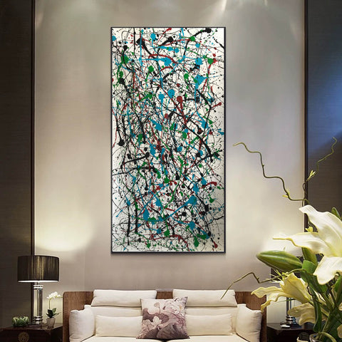 Image of Jackson pollock action painting | Jackson pollock abstract art | Pollock jackson paintings F64-5