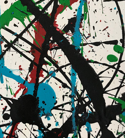 Image of Jackson pollock action painting | Jackson pollock abstract art | Pollock jackson paintings F64-6