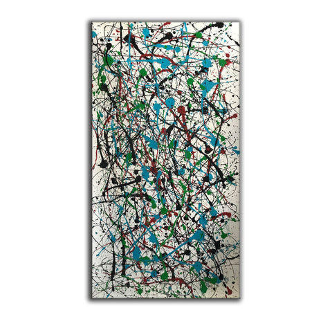 Image of Jackson pollock action painting | Jackson pollock abstract art | Pollock jackson paintings F64-4