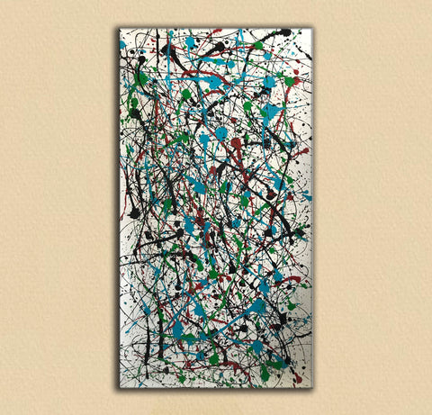 Image of Jackson pollock action painting | Jackson pollock abstract art | Pollock jackson paintings F64-8