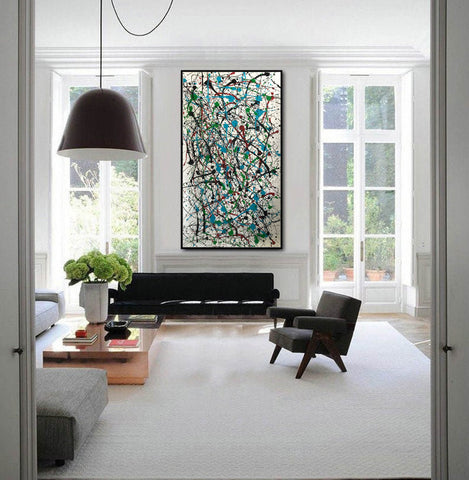 Image of Jackson pollock action painting | Jackson pollock abstract art | Pollock jackson paintings F64-9