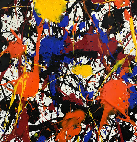Image of Pollock style painting | Pollock artist paintings | Jackson pollock drip painting F65-5