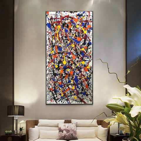 Image of Pollock style painting | Pollock artist paintings | Jackson pollock drip painting F65-2