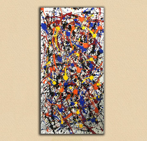 Image of Pollock style painting | Pollock artist paintings | Jackson pollock drip painting F65-7