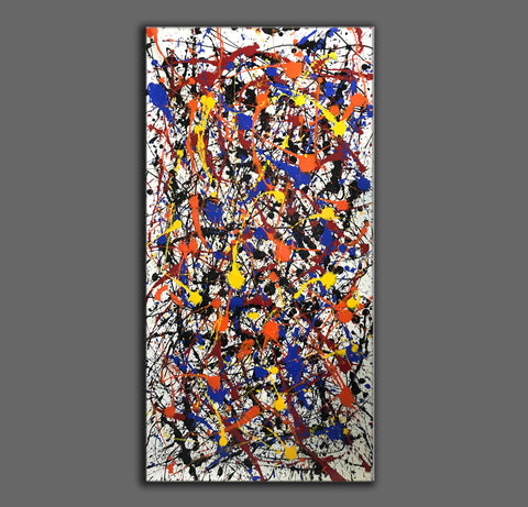 Image of Pollock style painting | Pollock artist paintings | Jackson pollock drip painting F65-8