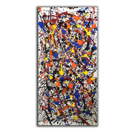 Image of Pollock style painting | Pollock artist paintings | Jackson pollock drip painting F65-3