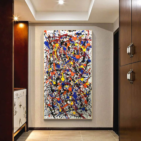 Image of Pollock style painting | Pollock artist paintings | Jackson pollock drip painting F65-9