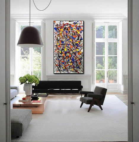 Image of Pollock style painting | Pollock artist paintings | Jackson pollock drip painting F65-10