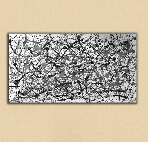 Black and white canvas art | White abstract art F68-5