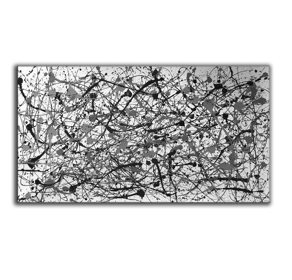 Black and white canvas art | White abstract art F68-7