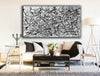 Black and white canvas art | White abstract art F68-8