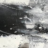 Black and white contemporary paintings | Black and white abstract oil painting F75-3