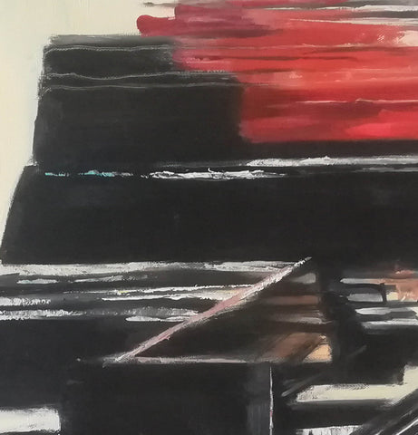 Image of black white modern art detail | OilPaintingFrom