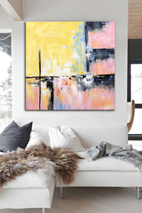 Modern and contemporary art | Abstract oil painting on canvas F267-6