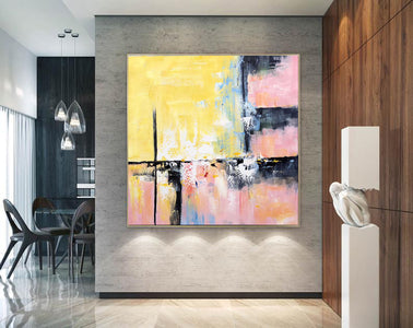 Modern and contemporary art | Abstract oil painting on canvas F267-1