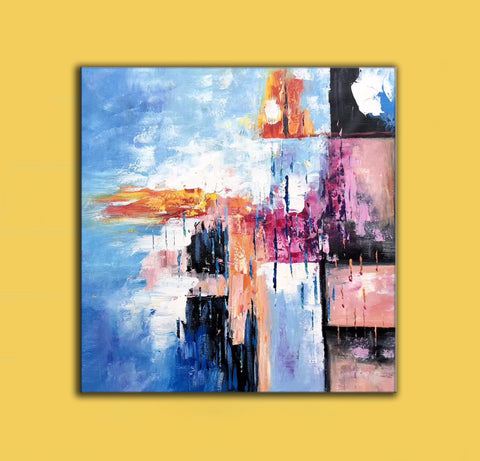 Image of Modern art oil painting, Abstract art canvas paintings F269-4