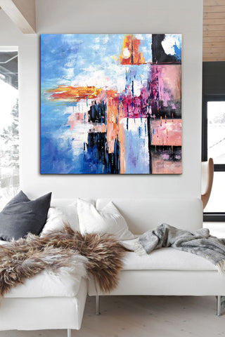 Image of Modern art oil painting, Abstract art canvas paintings F269-2