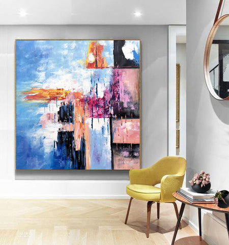 Image of Modern art oil painting, Abstract art canvas paintings F269-9