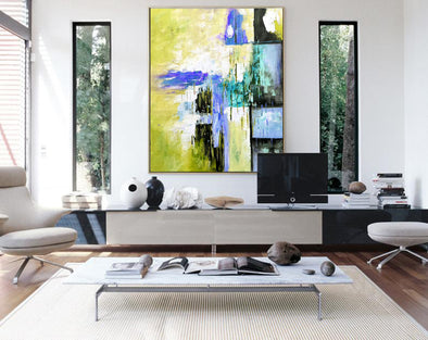 Versized wall art | Oversized abstract wall art F312-1