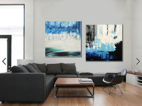 Image of Abstract modern art paintings   Abstract oil art paintings F130-2